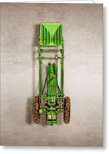 John Deere Tractor Loader Greeting Card by YoPedro