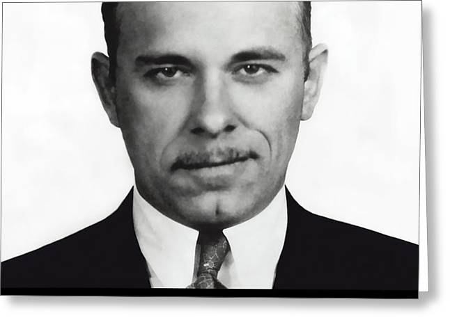 JOHN DILLINGER -- Public Enemy No. 1 Greeting Card by Daniel Hagerman