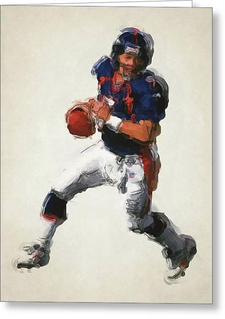 John Elway Denver Broncos Art 2 Greeting Card by Joe Hamilton