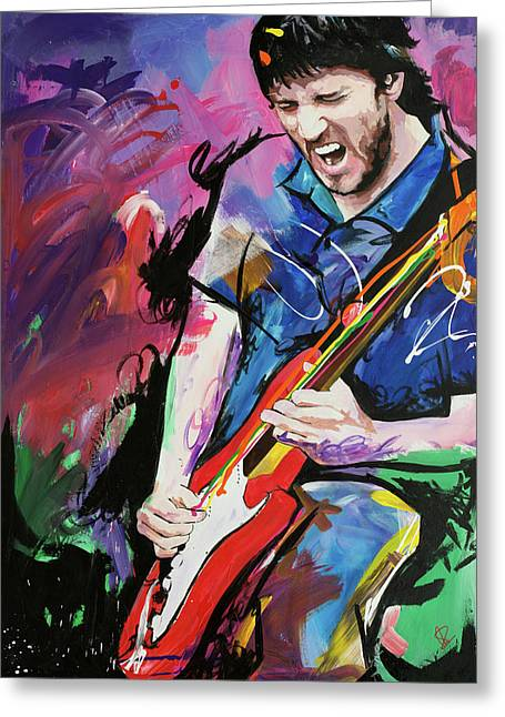 Graffiti Paintings Greeting Cards - John Frusciante Greeting Card by Richard Day