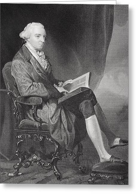 Fame Drawings Greeting Cards - John Hancock 1737-1793. American Greeting Card by Ken Welsh