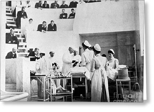 Radicals Greeting Cards - John Hopkins Operating Theater, 19031904 Greeting Card by Science Source