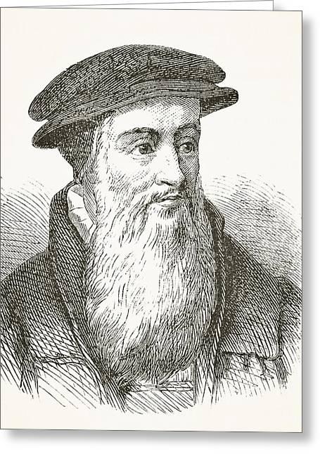 Church Founder Greeting Cards - John Knox Circa 1510 To 1572 Scottish Greeting Card by Ken Welsh