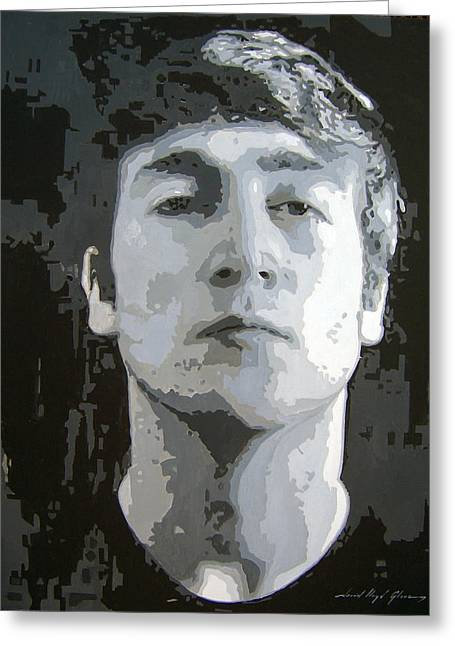 Best Selling Paintings Greeting Cards - John Lennon - Birth Of The Beatles Greeting Card by David Lloyd Glover