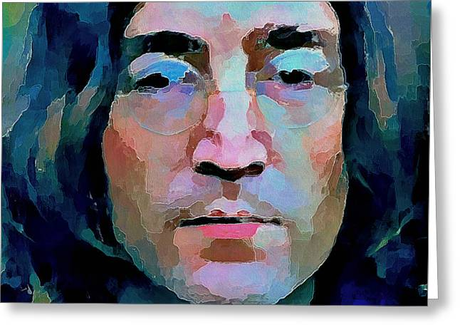 Pop Singer Greeting Cards - John Lennon Colors 2 Greeting Card by Yury Malkov