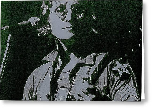 John Lennon Greeting Card by David Patterson