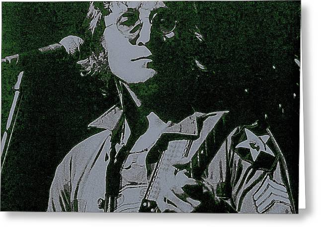 Apple Records Greeting Cards - John Lennon Greeting Card by David Patterson