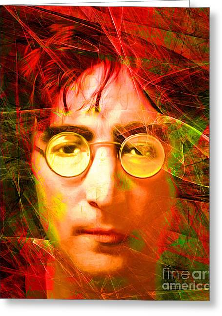 John Lennon Imagine 20160521 Greeting Card by Wingsdomain Art and Photography