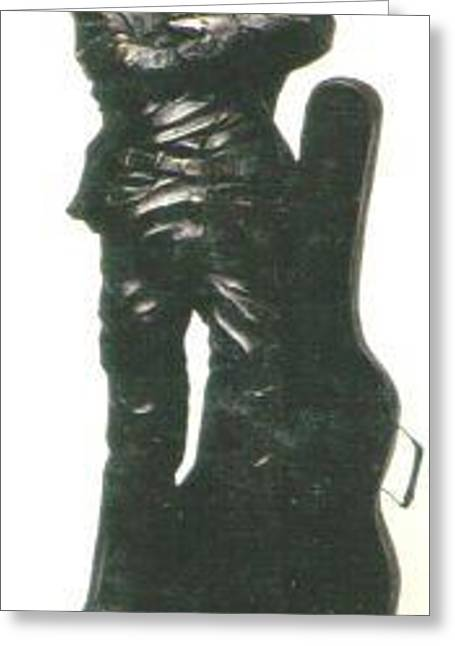 Magical Sculptures Greeting Cards - John Lennon Greeting Card by Larkin Chollar