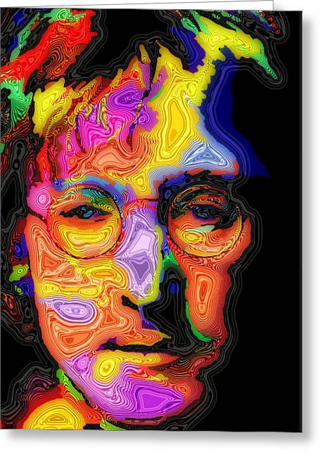 Fab Greeting Cards - John Lennon Greeting Card by Stephen Anderson