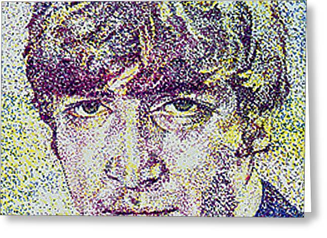 John Lennon Greeting Card by Suzanne Gee