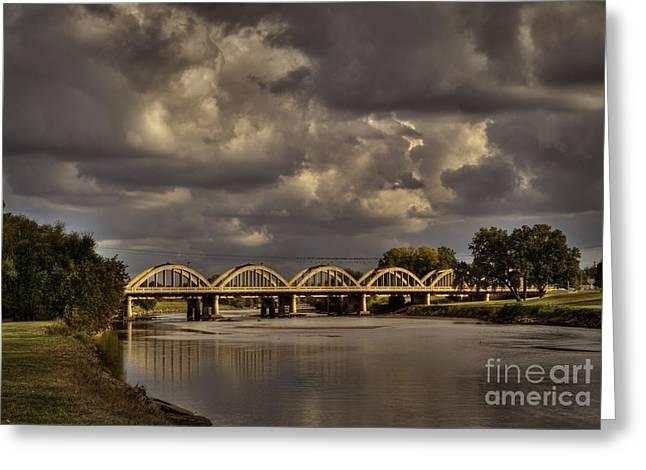 John Mack Bridge Greeting Card by Fred Lassmann