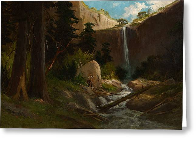 Frederick Greeting Cards - John Muirs Valley Yosemite Greeting Card by Celestial Images