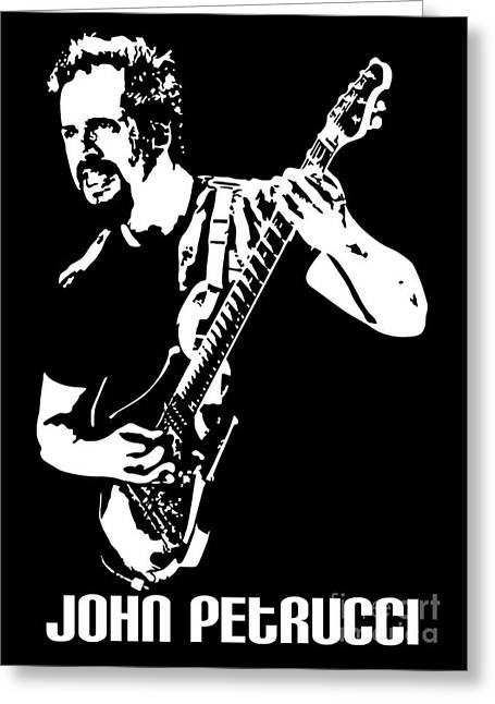 Player Digital Greeting Cards - John Petrucci No.01 Greeting Card by Caio Caldas
