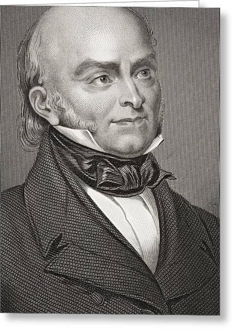 Adam Drawings Greeting Cards - John Quincy Adams 1767 - 1848. Eldest Greeting Card by Ken Welsh
