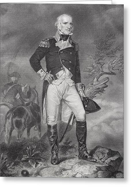 18th Century Greeting Cards - John Stark 1728-1822. American General Greeting Card by Ken Welsh