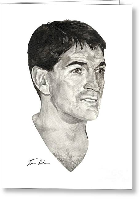 Stockton Paintings Greeting Cards - John Stockton Greeting Card by Tamir Barkan