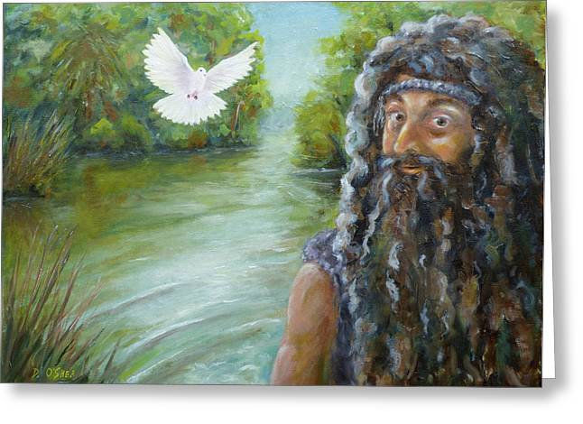 The Followers Greeting Cards - John the Baptist Greeting Card by Donna Oshea
