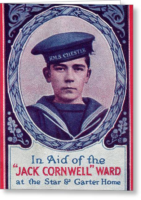 Gallantry Greeting Cards - John Travers Cornwell Vc 1900 - 1916 Greeting Card by Vintage Design Pics