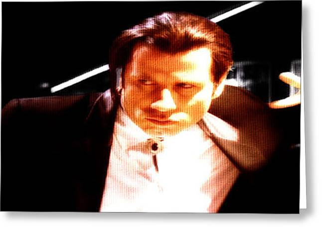 Machismo Greeting Cards - John Travolta 3a Greeting Card by Brian Reaves