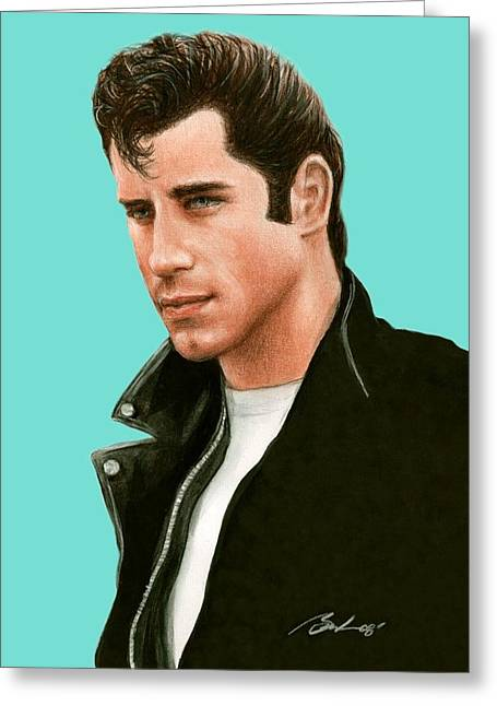 Bruce Lennon Greeting Cards - John Travolta Grease Greeting Card by Bruce Lennon