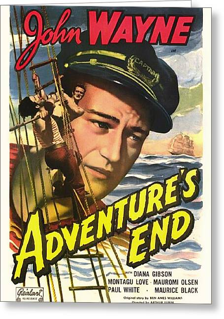 1936 Movies Greeting Cards - John Wayne in Adventures End 1936 Greeting Card by Mountain Dreams