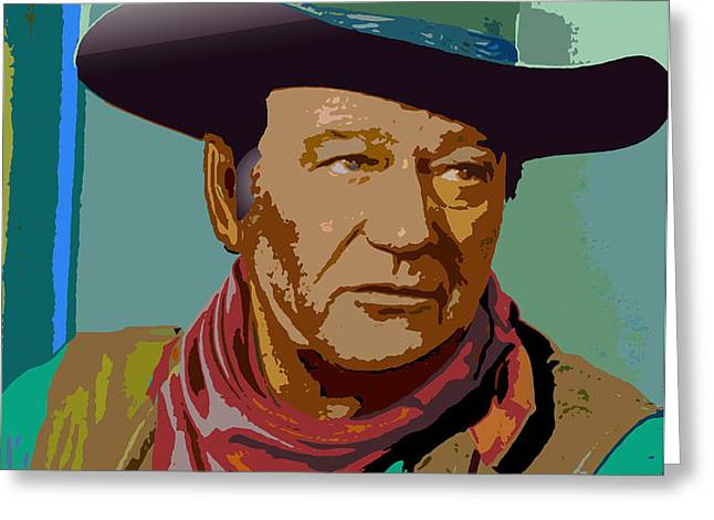 John Wayne Greeting Card by John Keaton