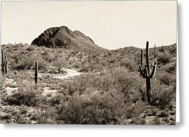 Cave Creek Western Greeting Cards - John Wayne Rode Here Greeting Card by Gordon Beck