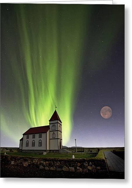 Iceland Greeting Cards - John Waynea?s Official Retirement Greeting Card by Thorsteinn H. Ingibergsson