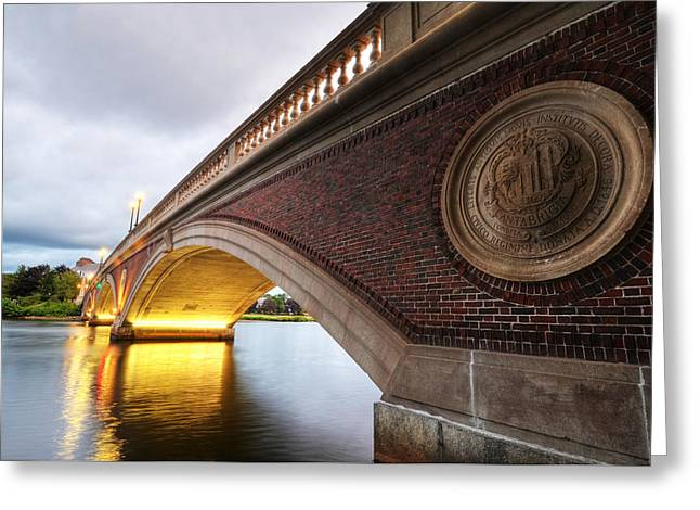 Charles River Greeting Cards - John Weeks Bridge Charles River Harvard Square Cambridge MA Greeting Card by Toby McGuire