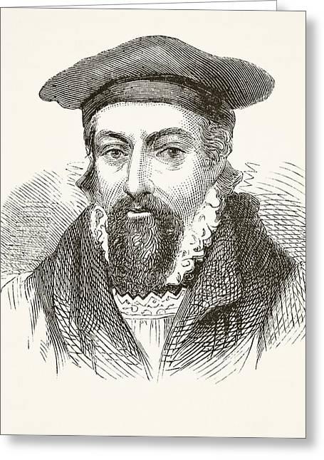 Archbishop Greeting Cards - John Whitgift Circa 1530 To 1604 Greeting Card by Ken Welsh