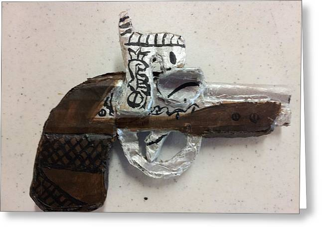 Slavery Sculptures Greeting Cards - John Wilkes-Booth pistol Greeting Card by William Douglas