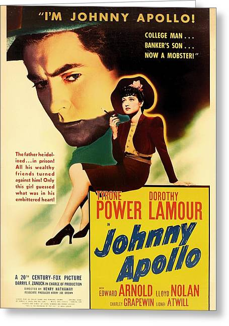 1940s Movies Greeting Cards - Johnny Apollo 1940 Greeting Card by Mountain Dreams