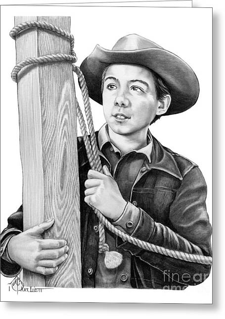 Johnny Crawford-mark Mccain Greeting Card by Murphy Elliott