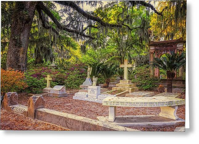 Moss Greeting Cards - Johnny Mercer Grave Greeting Card by Joan Carroll