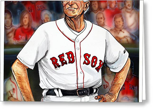 Johnny Pesky  Greeting Card by Dave Olsen
