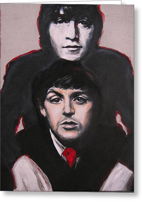Paul Mccartney Greeting Cards - Johns Ghost Greeting Card by Eric Dee