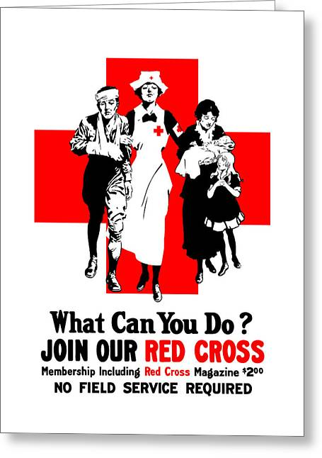 Wounded Greeting Cards - Join Our Red Cross Greeting Card by War Is Hell Store