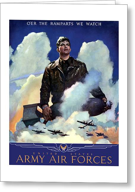 Political Mixed Media Greeting Cards - Join The Army Air Forces Greeting Card by War Is Hell Store
