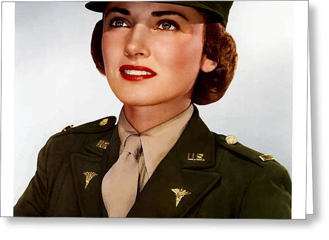 Join The Army Nurse Corps Greeting Card by War Is Hell Store