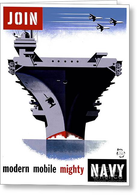 Join The Navy Poster Greeting Card by Celestial Images