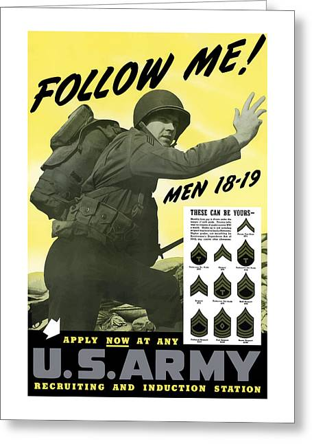 Patriotic Art Greeting Cards - Join The US Army  Greeting Card by War Is Hell Store