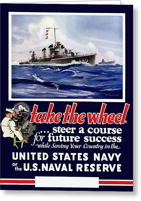 Navy Greeting Cards - Join The US Navy - WW2 Greeting Card by War Is Hell Store