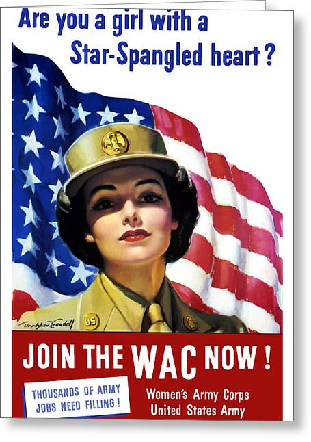 Military Art Greeting Cards - Join The WAC Now Greeting Card by War Is Hell Store