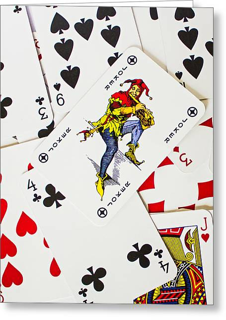 Playing Cards Photographs Greeting Cards - Joker In The Pack Greeting Card by Martin Newman