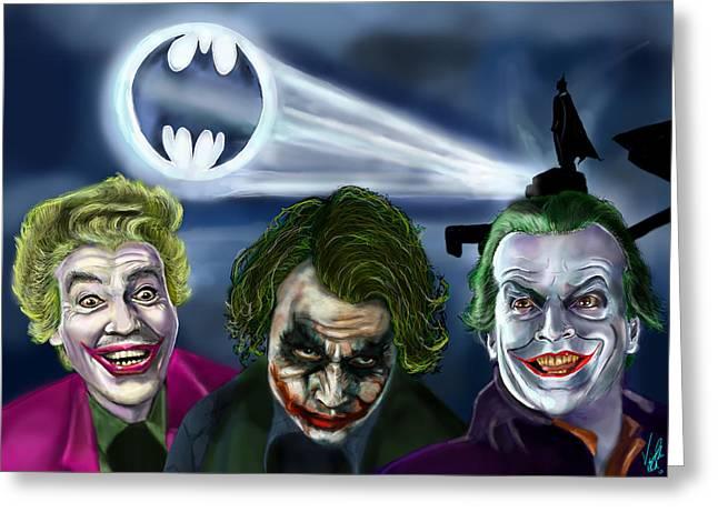 Joker Tribute Greeting Card by Vinny John Usuriello