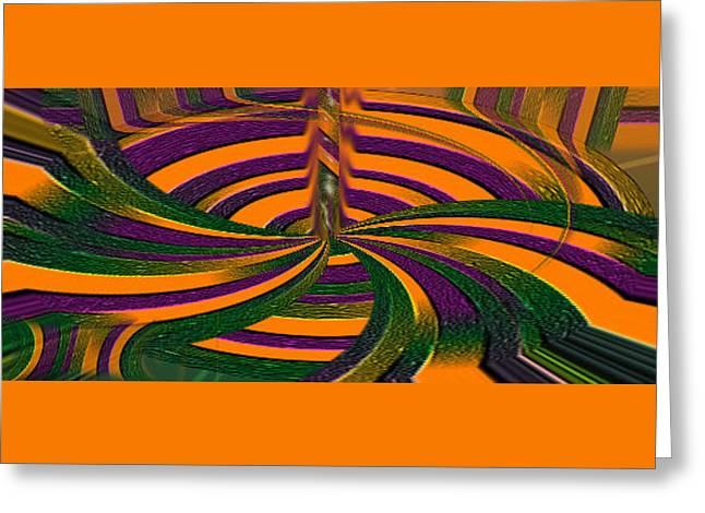 Layers Greeting Cards - Joker Vortex Greeting Card by Ernest Amos-Jackson