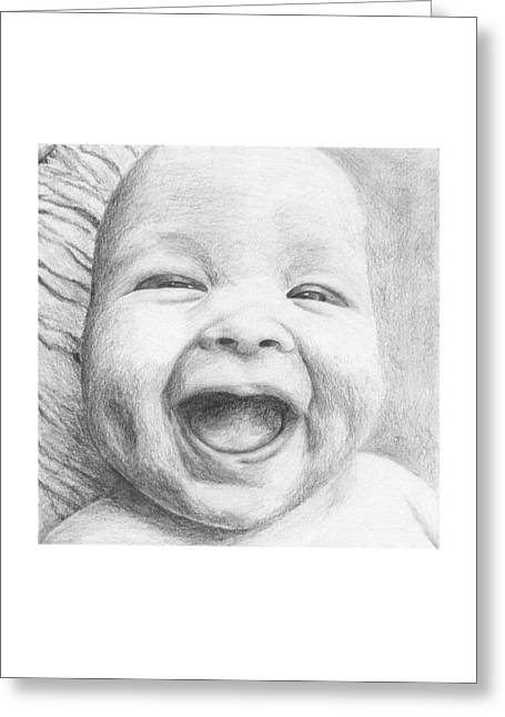 Daughter Gift Greeting Cards - Jolly Baby Greeting Card by Susan Singer
