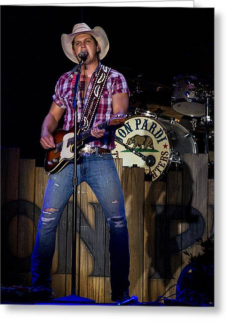 Live Music Greeting Cards - Jon Pardi Greeting Card by Mike Burgquist