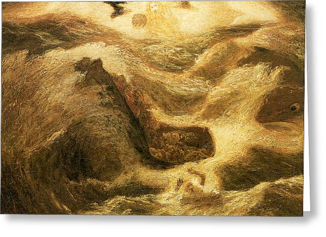 Religious ist Paintings Greeting Cards - Jonah Greeting Card by Albert Pinkham Ryder